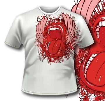 Screaming Mouth T-Shirt51 Tm1088