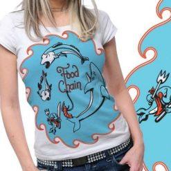 Shark Funny Printed Tshirt Plus 39 Tm1089