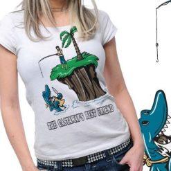 Shark Island Printed Tshirt Plus 46 Tm1090