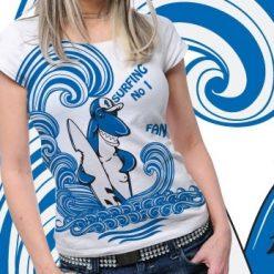 Shark Printed Tshirt Plus 50 Tm1091
