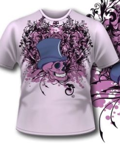 Skull With Hat Tee 76 Tm1100