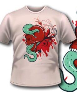 Snake And Skull Tee 74 Tm1106