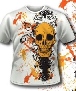 Splashes Skull Tshirt 83 Tm1107