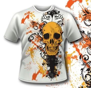 Splashes Skull Tshirt 83 Tm1107