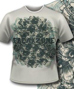 Printe5 T Shirt 295 Detailed Flowers Tm0609