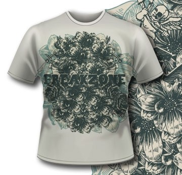 Printe5 T Shirt 295 Detailed Flowers Tm0609