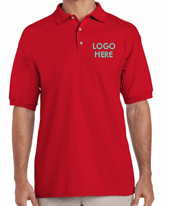 Custom Red Men Polo T-Shirt