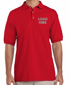 Custom Red Men Polo T-Shirt