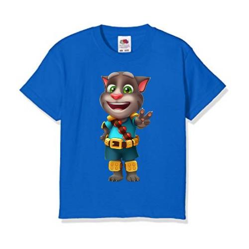 Blue Talking Tom Jewel Kid's Printed T Shirt