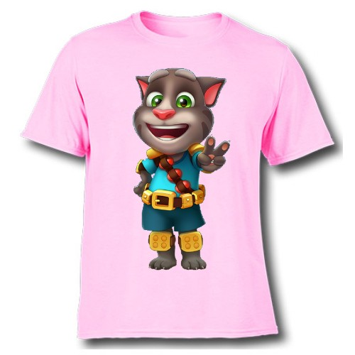 Pink Talking Tom Jewel Kid's Printed T Shirt