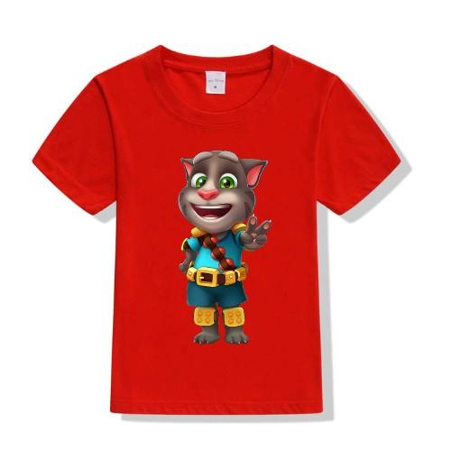 Red Talking Tom Jewel Kid's Printed T Shirt