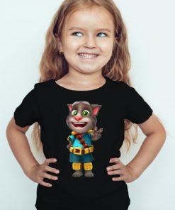 Black Girl Talking Tom Jewel Kid's Printed T Shirt