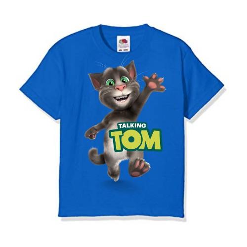 Blue Hi Talking Tom Kid's Printed T Shirt