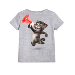 Talking tom with Mic Kid's Printed T Shirt