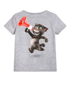 Talking tom with Mic Kid's Printed T Shirt