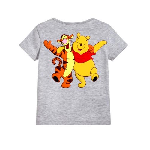 Grey Teddy & Tiger Friends Kid's Printed T Shirt