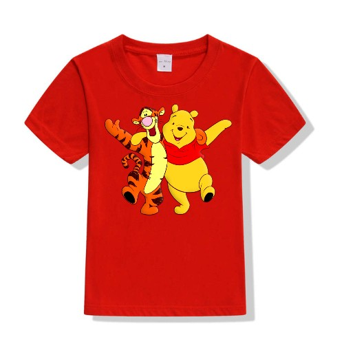 Red Teddy & Tiger Friends Kid's Printed T Shirt