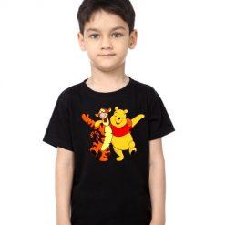 Black Boy Teddy & Tiger Friends Kid's Printed T Shirt