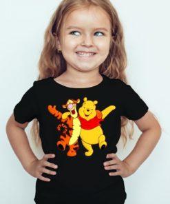 Black Girl Teddy & Tiger Friends Kid's Printed T Shirt