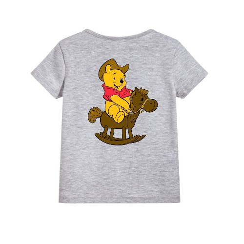 Grey Teddy on Horse Kid's Printed T Shirt
