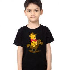 Black Boy Teddy on Horse Kid's Printed T Shirt