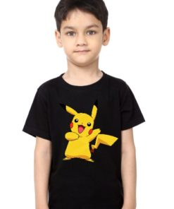Black Boy Yellow Rabbit Kid's Printed T Shirt