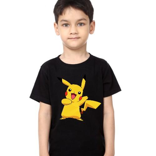 Black Boy Yellow Rabbit Kid's Printed T Shirt