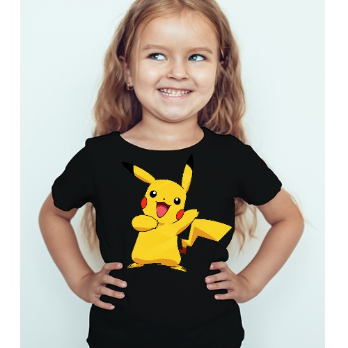 Black Girl Yellow Rabbit Kid's Printed T Shirt