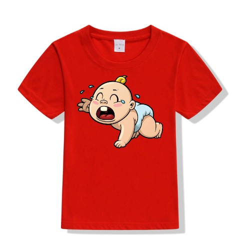 Red Crying Baby Kid's Printed T Shirt