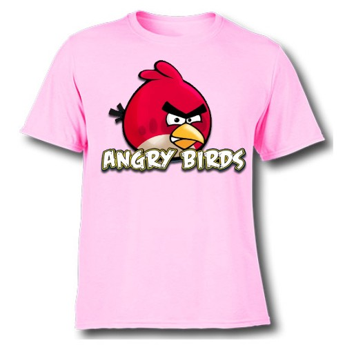 Pink Pink Angry Bird Kid's Printed T Shirt