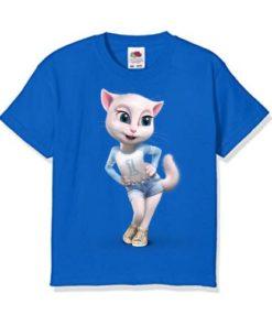 Blue Angela in Blue Kid's Printed T Shirt