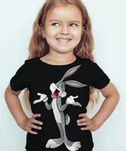 Black Girl So What Rabbit Kid's Printed T Shirt