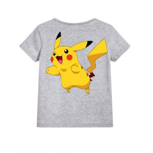 Grey blushing rabbit Kid's Printed T Shirt