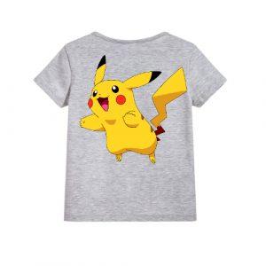 Grey blushing rabbit Kid's Printed T Shirt