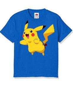 Blue blushing rabbit Kid's Printed T Shirt