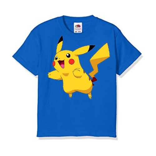 Blue blushing rabbit Kid's Printed T Shirt