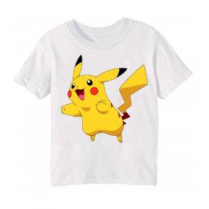 Printe5 White blushing rabbit Printed Kid's T Shirt