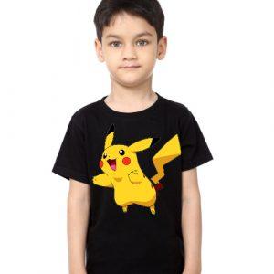 Black Boy blushing rabbit Kid's Printed T Shirt