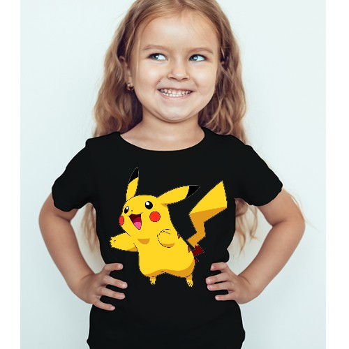 Black Girl blushing rabbit Kid's Printed T Shirt