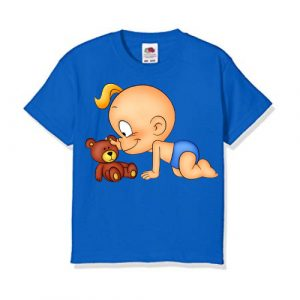 Blue baby with kid Kid's Printed T Shirt