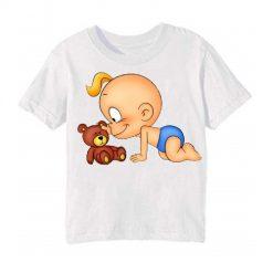 White baby with kid Kid's Printed T Shirt