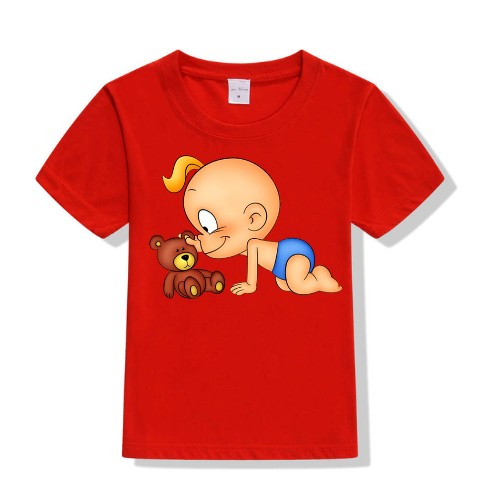 Red baby with kid Kid's Printed T Shirt
