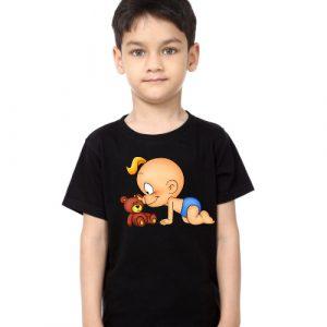 Black Boy baby with kid Kid's Printed T Shirt