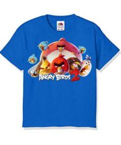 Blue angry bird version 2 Kid's Printed T Shirt