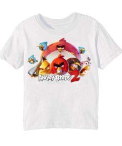 White angry bird version 2 Kid's Printed T Shirt