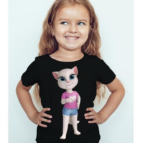 Black Girl talking angela in blue jean Kid's Printed T Shirt