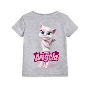 Grey Fairy white talking angela Kid's Printed T Shirt