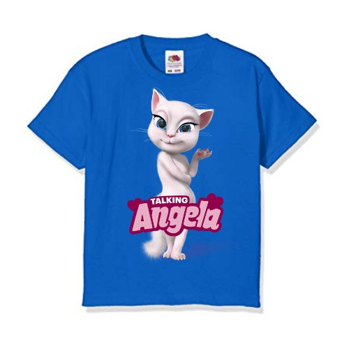 Blue Fairy white talking angela Kid's Printed T Shirt