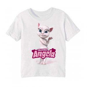 White Fairy white talking angela Kid's Printed T Shirt