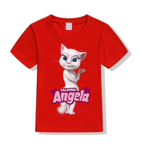 Red Fairy white talking angela Kid's Printed T Shirt